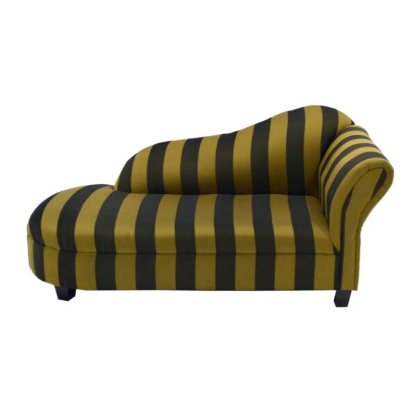 Black and Gold Striped Chaise Lounge-11570
