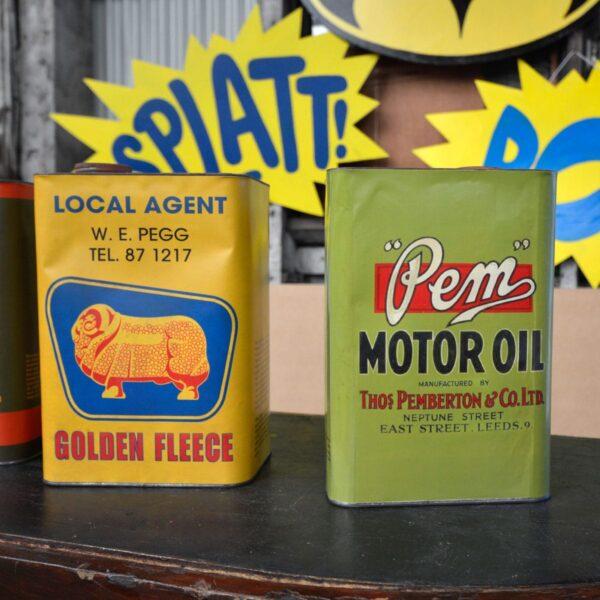 Vintage Motor Oil Cans