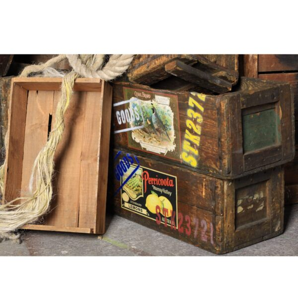 Asian Style Wooden Crates
