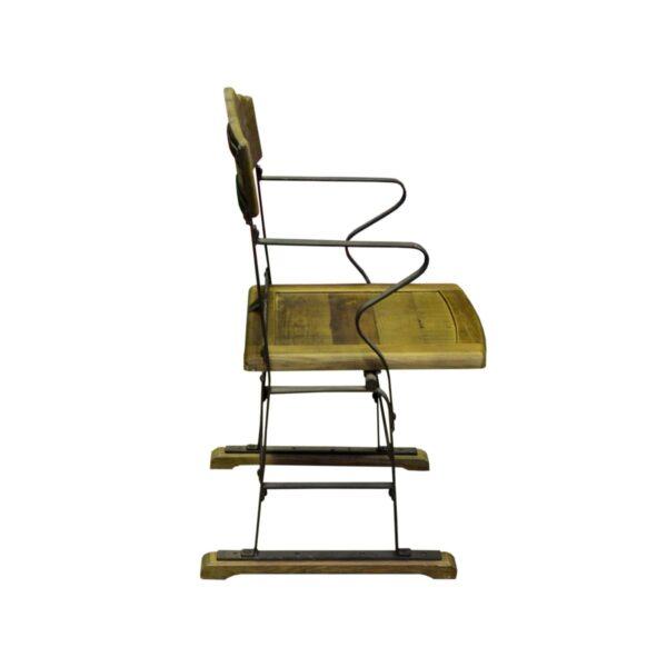 Vintage Wooden Cinema Chair-18406
