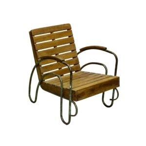 Rustic Timber Slat Porch Chair-0