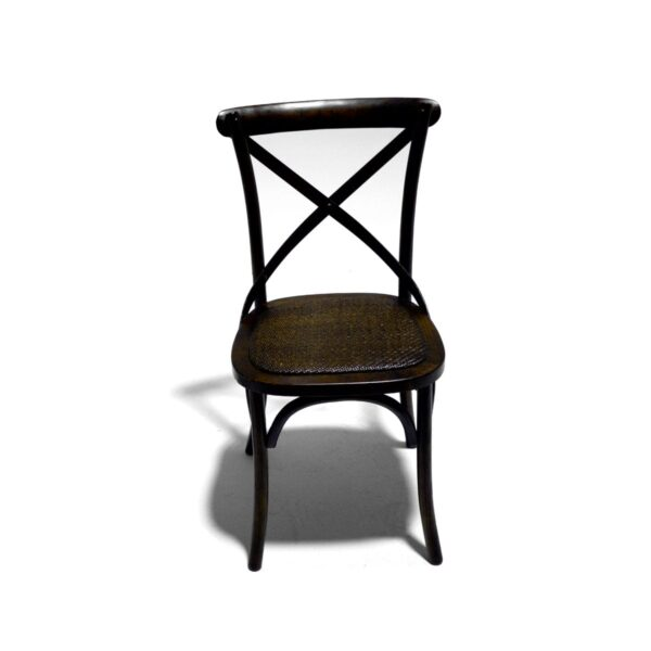 Antique Style Strap Back Chair