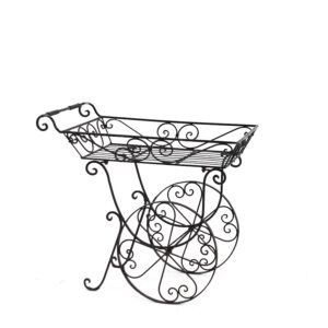 Wrought Iron Flower Cart-0