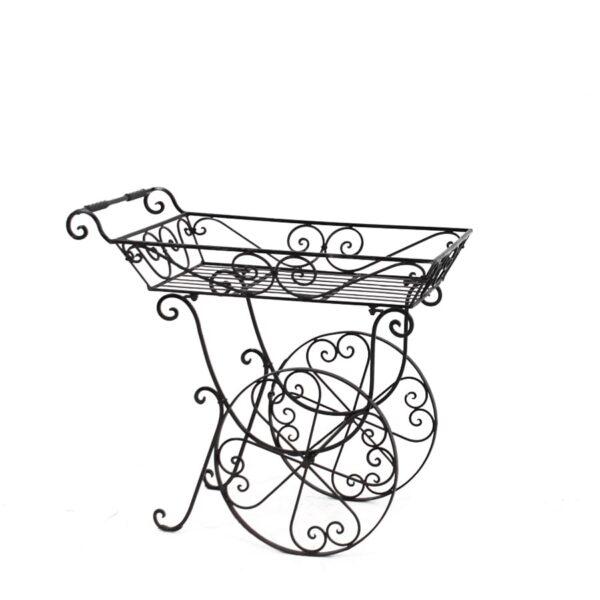 Wrought Iron Flower Cart-0