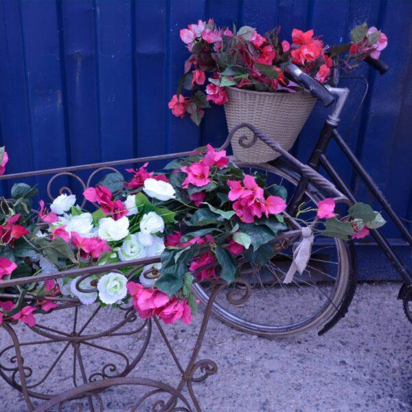 Wrought Iron Flower Cart-11531