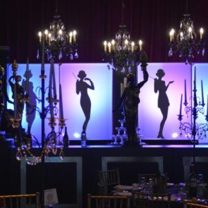 Gatsby Flapper Silhouette - Sydney Prop Specialists - Prop Hire and Event Theming