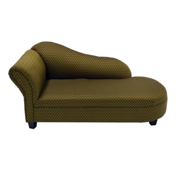 Gold Patterned Chaise Lounge-11572
