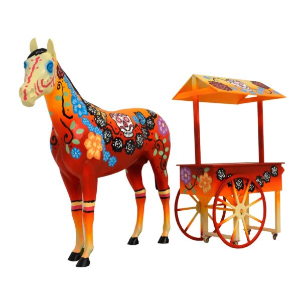 Mexican Horse and Cart 1 - Mexican Style Cart