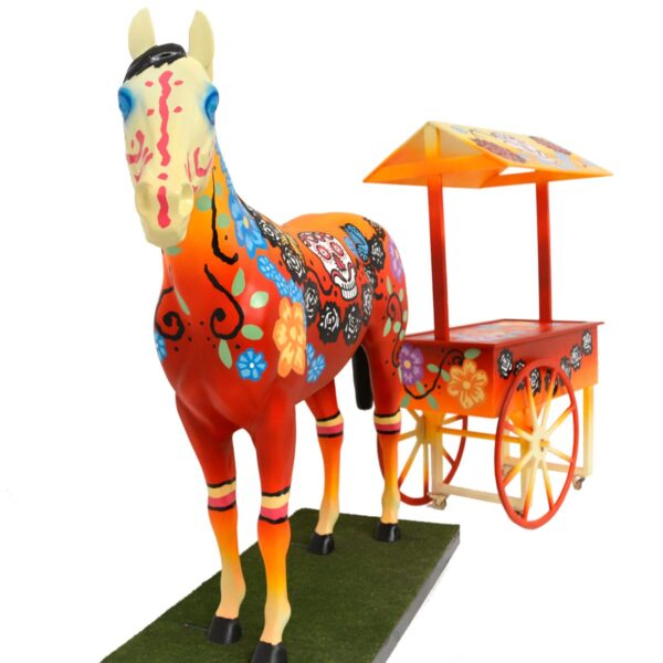 Mexican Horse with cart