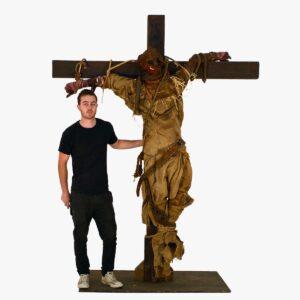 Horror Scarecrow on Crucifix-0