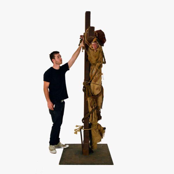 Horror Scarecrow on Crucifix-11401