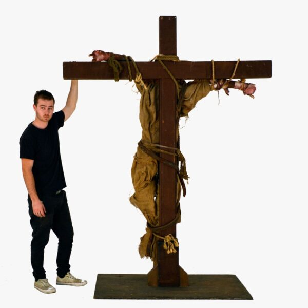 Horror Scarecrow on Crucifix-11400