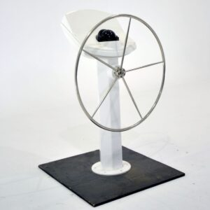 Modern Yacht Wheel on Stand