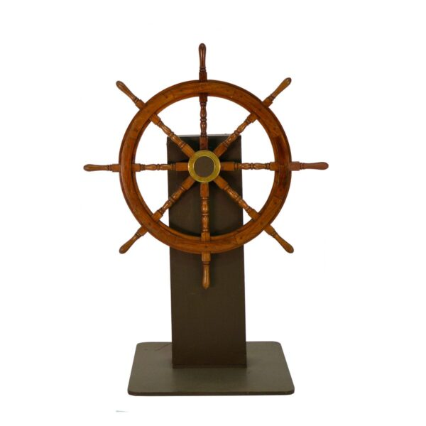 Ships Wheel on Stand-0