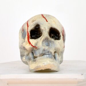 Fake Human Skull with Blood