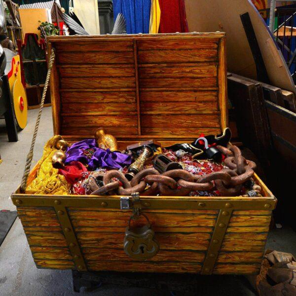 Giant Treasure Chest on Wheels-11507