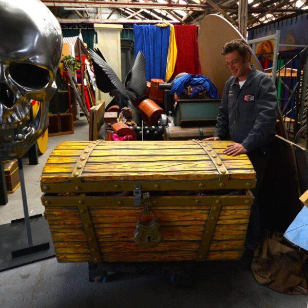 Giant Treasure Chest on Wheels-0
