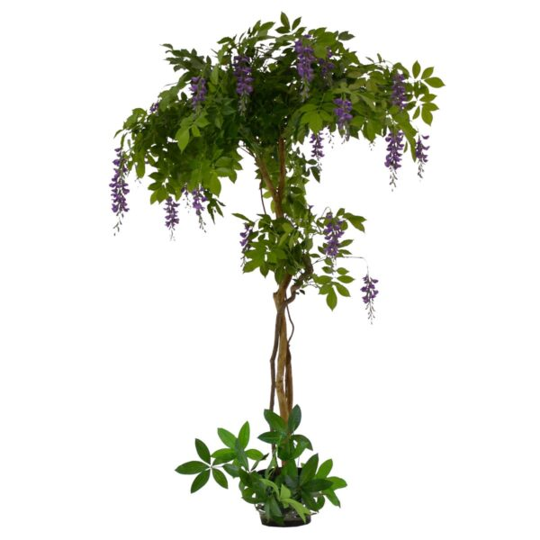 Artificial Potted Purple Flowering Wisteria Tree