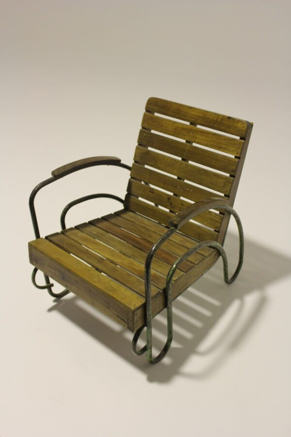 Rustic Timber Slat Porch Chair