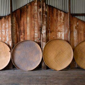 Chinese Woven Flat Baskets