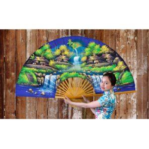 Large Chinese Ornamental Fan