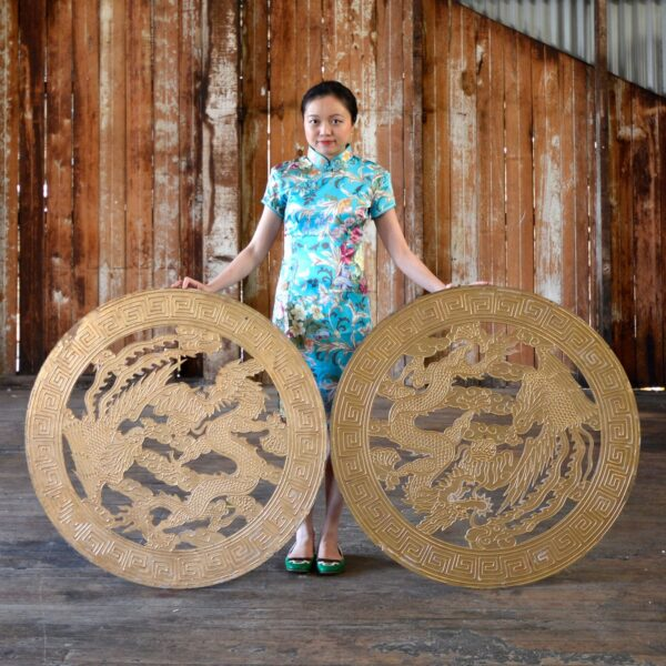 Chinese Dragon Motif Cutouts