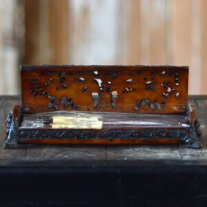 Carved Wooden Chinese Incense Box