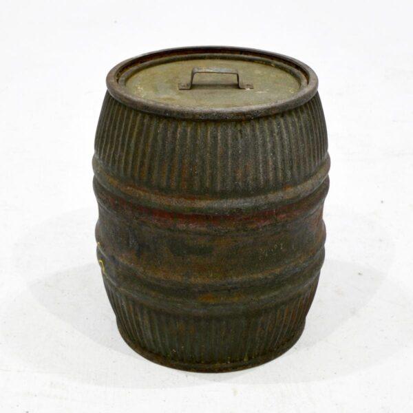 Vintage Iron Barrel with Lid-18418
