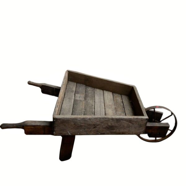 Rustic Wooden Wheelbarrow - Type B-0