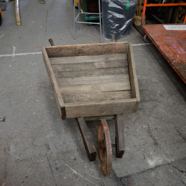 Rustic Wooden Wheelbarrow - Type B
