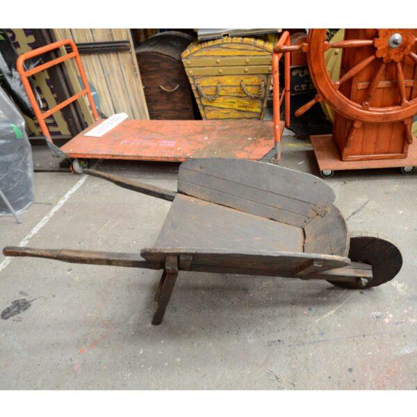 Rustic Wooden Wheelbarrow - Type C