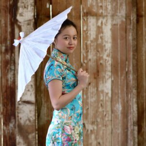 Chinese Silk Umbrella - White