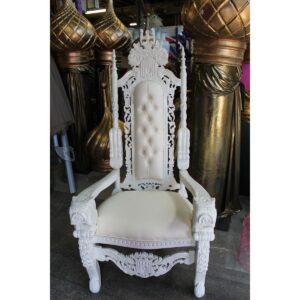 Throne 10 - Ornate White Throne - Sydney Prop Specialists