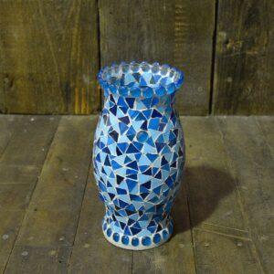 Blue Mosaic Vase