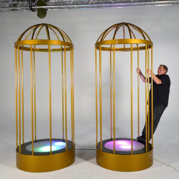 Steel Go Go Cage - Sydney Props Specialists - Prop Hire and Event Theming
