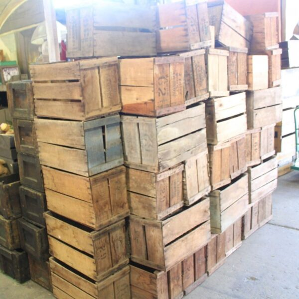 2 x small wooden crate CRATESML