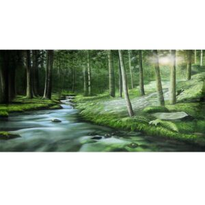 Enchanted Forest with Stream Backdrop BD-0520