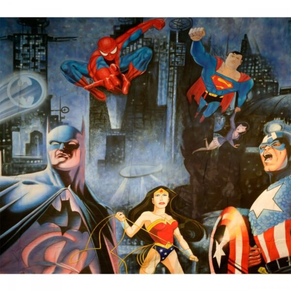 Superheroes Backdrop BD–0840 Size: 4m x 3.6m