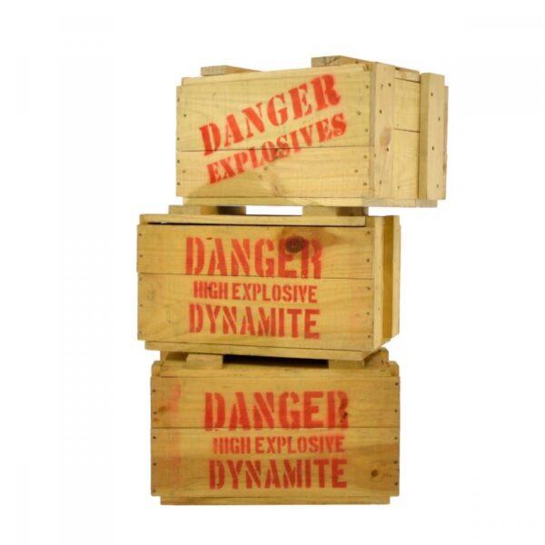 2 x danger explosives crate DYNACRAT