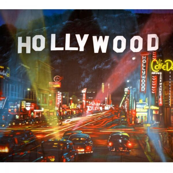 Hollywood At Night Backdrop BD–0222 Size: 4m x 3.5m