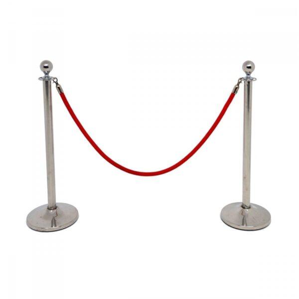 2 x red bollard rope BOLROPE