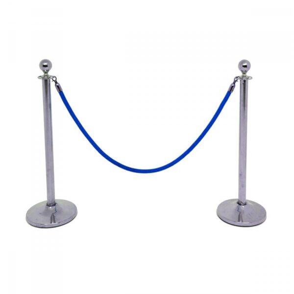 2 x blue bollard rope BOLROPE