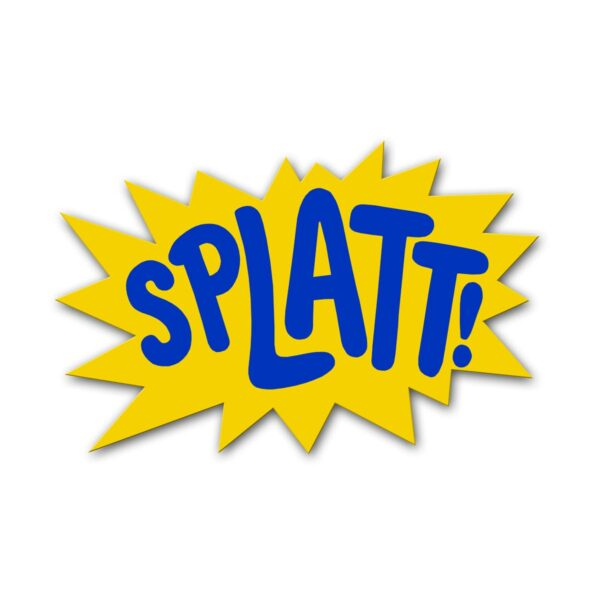 1 x splat sign SIGNSPLA