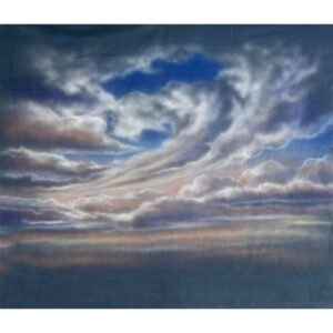 Sky with Swirling Clouds Painted Backdrop BD-0002