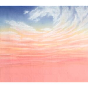 Pink Sky with Clouds Painted Backdrop BD-0003