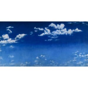 Sky with White Clouds Painted Backdrop BD-0004