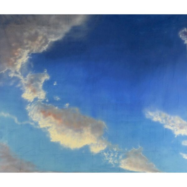 Clouds with Red Tinge Sky Painted Backdrop BD-0006