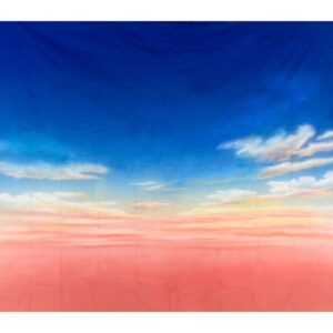 Pink and Blue Sky Painted Backdrop BD-0008