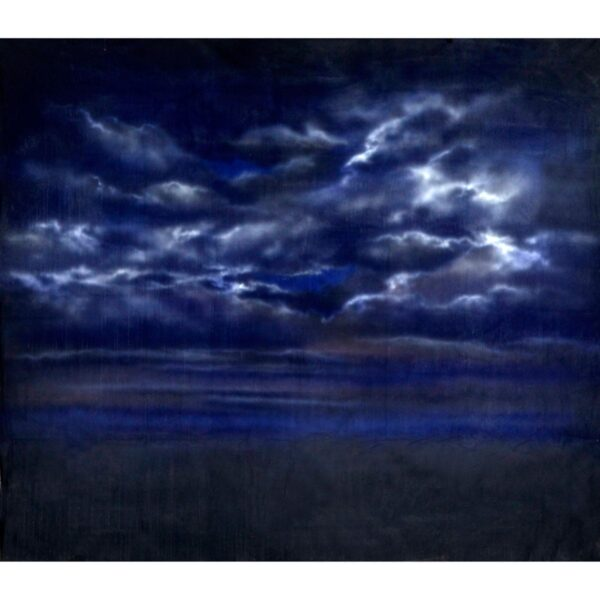 Stormy Sky at Night Painted Backdrop BD-0009