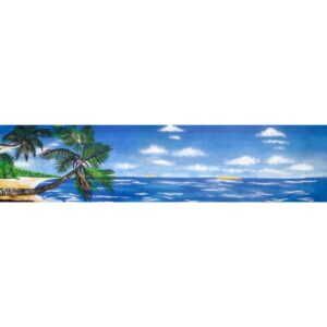 Island Paradise with Sky Painted Backdrop BD-0020